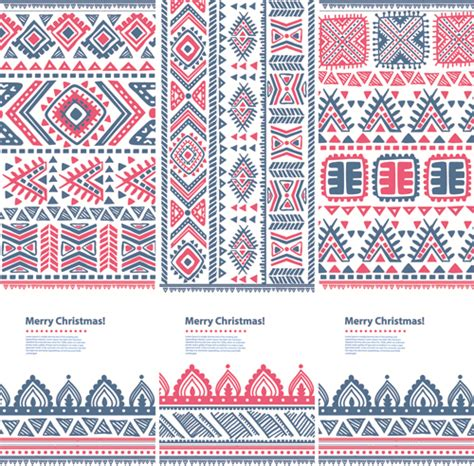 patterns christmas banners christmas ethnic pattern banner vector 03 vector banner
