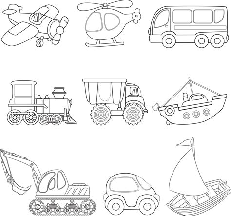 transportation coloring page sketch coloring page