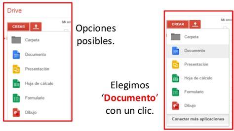 drive doc crear un documento en drive y compartirlo