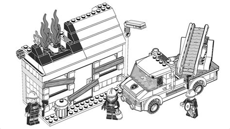 lego fire truck coloring page free coloring pages of lego police truck