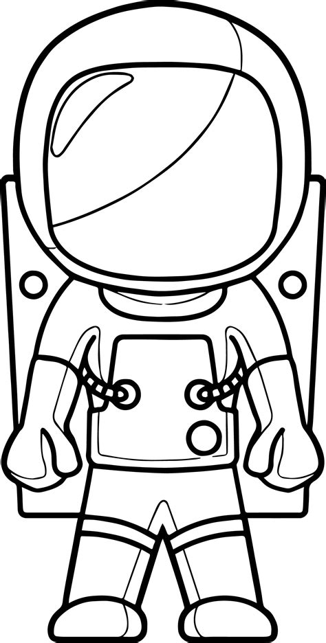 coloring book views astronaut front view coloring page wecoloringpage