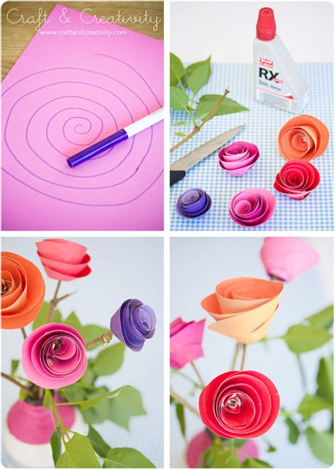 pappersrosor paper roses craft creativity pyssel diy