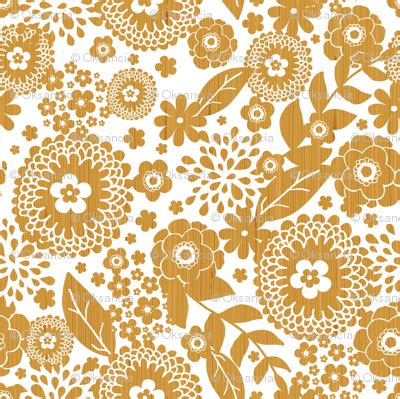 iframe seamless pattern textured wooden flowers seamless pattern fabric oksancia