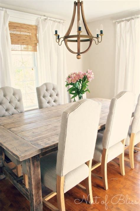 Farmhouse Dining Room Table And Chairs Rustic Chic Dining Room Peace In Spirit In Inner Spaces Inspirati