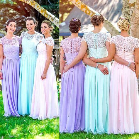 pastel color bridesmaid dresses best 25 pastel bridesmaid gown colours ideas on
