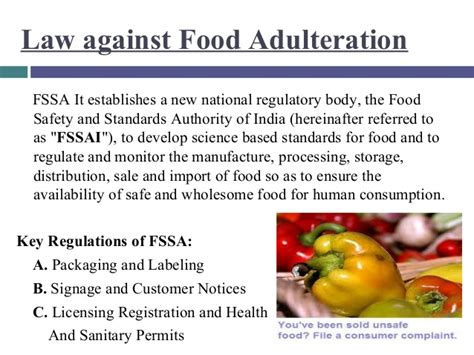 Adulteration in foods
