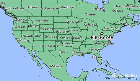 map usa pittsburgh pittsburgh pennsylvania map united states