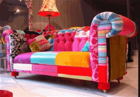 Funky Chesterfield Sofa Patchwork Patchwork Funky Furniture And Room