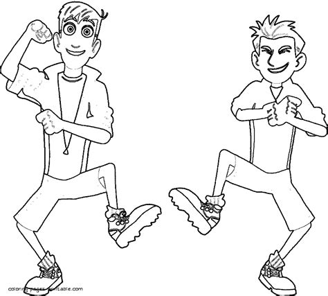 kratts coloring page kratts free colouring pages
