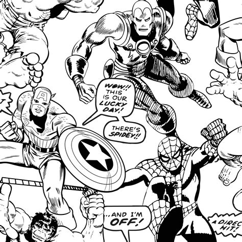 color your own wallpaper marvel colour your own superheroes black white