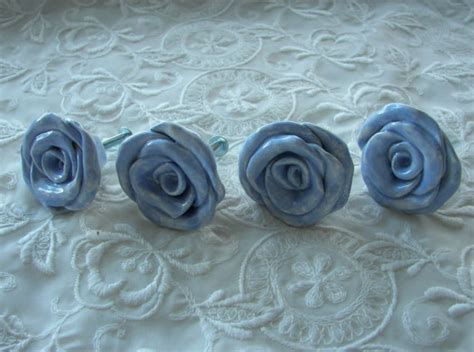 knobs and more home decor blue rose knobs drawer pulls home decor