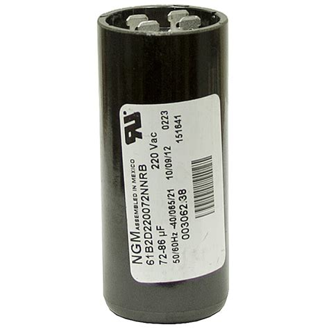 starting capacitor in ac 72 86 mfd 220 volt ac start capacitor ngm 61b2d220088enrb motor start capacitors capacitors
