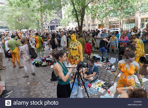 painting new 2015 new york ny usa july 18 2015 atmosphere during