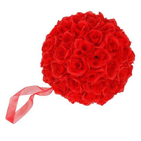 "New 1/5/10/12 Red Kissing Wedding Silk Rose 10"" Flower"
