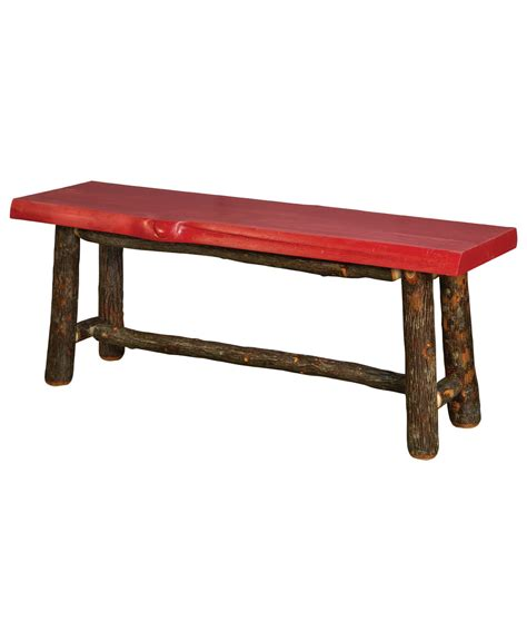 log stools and benches old classic log bench amish direct furniture