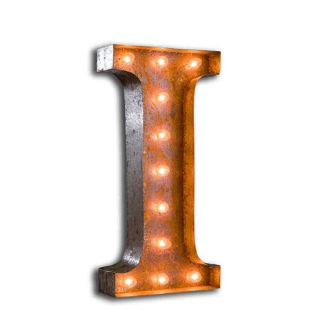 Letter Light I The Vintage Industrial Lights I