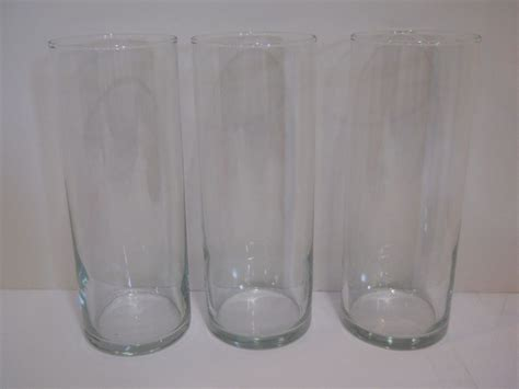 glass cylinder table l 3 clear glass cylinder tealight candle holders wedding