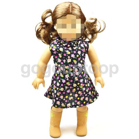 Dolls For Our Doll Faced Flowergirl by Sleeveless Flower Clothes Dress Fit American Our
