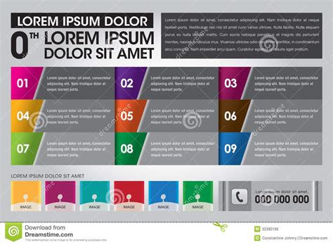 creative infographic page layout template royalty free