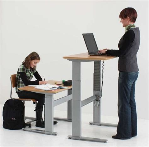 adjustable desks for standing or sitting uk conset 501 27 sit stand height adjustable desks free