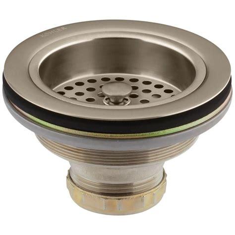 kohler duostrainer sink kohler duostrainer 4 1 2 in sink strainer in vibrant