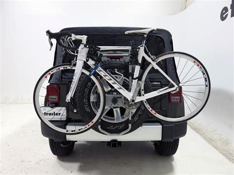 Jeep Jk Bike Rack by 2015 Jeep Wrangler Unlimited Spare Tire Bike Racks Thule