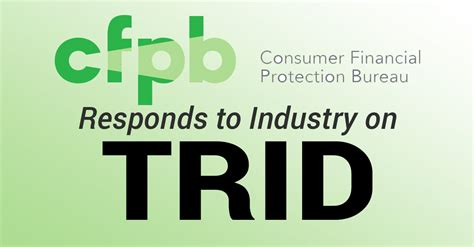 Cfpb Mba Letter by Cfpb Responds To Industry On Trid Mortgage Compliance