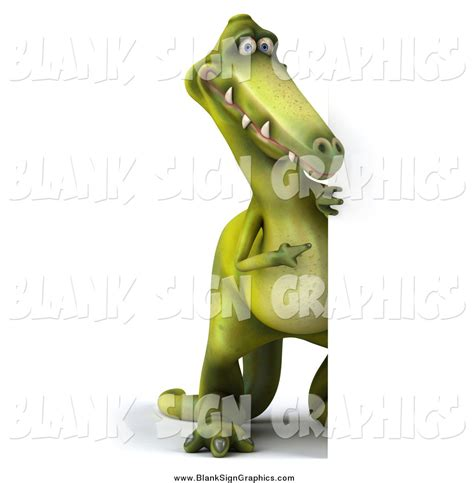 3d Copy And Draw Dinosaurs And illustration of a 3d dinosaur looking around a blank sign by julos 5308