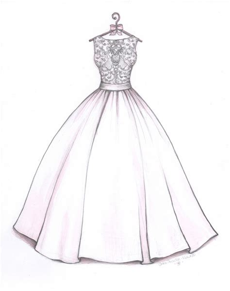 Brautkleider Zeichnen by Gown Wedding Dress Sketch By Catie Stricker Howell