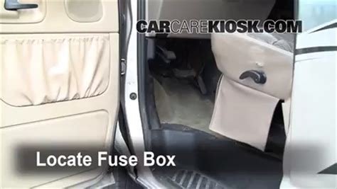 interior fuse box location   ford   econoline
