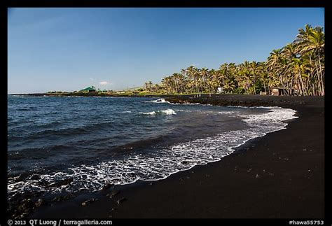 picture photo black sand beach at punaluu big island picture photo punaluu black sand beach big island