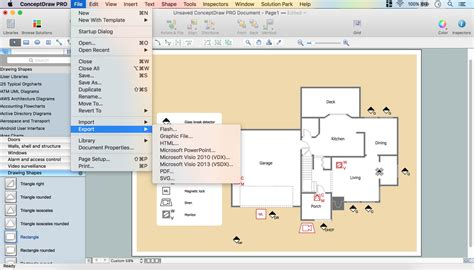 home security plan how to create a cctv diagram in conceptdraw pro cctv