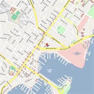 San Diego Hotel Map by Best Western Yacht Harbor Hotel San Diego California