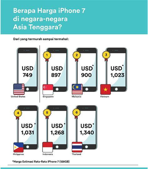 Harga Di Indonesia harga iphone 7 di indonesia paling mahal kedua di dunia