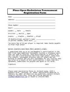 basketball tournament registration form template