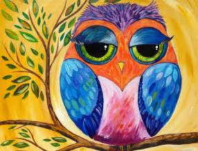colorful owl acrylic painting lesson for beginners youtube