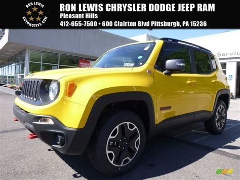 jeep yellow 2017 2017 solar yellow jeep renegade trailhawk 4x4 120774064
