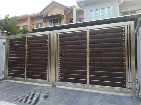 aluminium automatic gate front gate design main gate