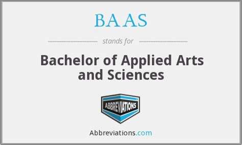 baas bachelor of applied arts and sciences