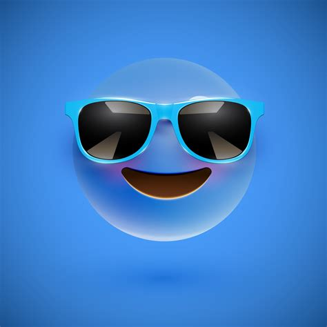 high detailed  smiley  sunglasses   colorful background vector illustration