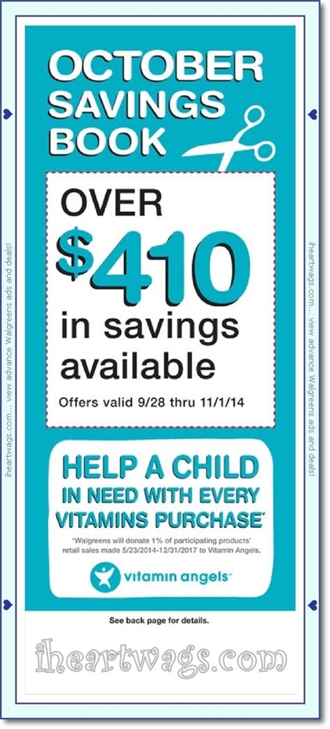 walgreens picture book i wags ad scans october 2014 coupon book 09 28 11 01