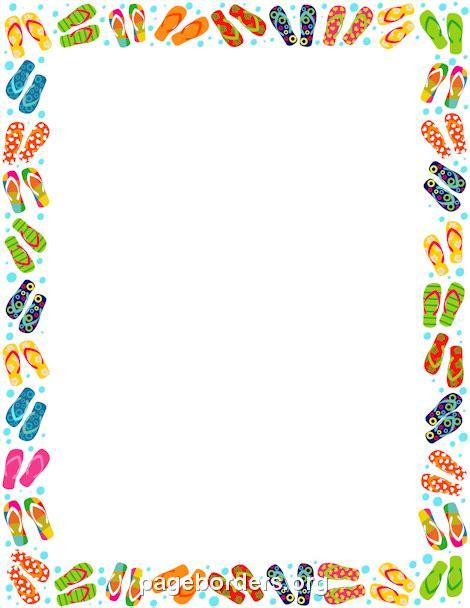 printable art borders printable flip flop border free gif jpg pdf and png