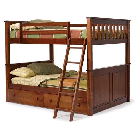 Oak Wood Bunk Beds Modern Bedroom With Unstained Wooden Oak Bunk Bed Using White Bed Linen Plus Pink
