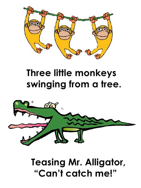 five little monkeys swinging in a tree 5 littlemonkeys