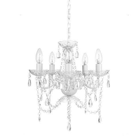 kronleuchter diamant tadpoles 5 light white chandelier cch5pl010 the
