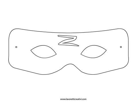 printable zorro mask pattern maschera di zorro da ritagliare carnival costumes masks
