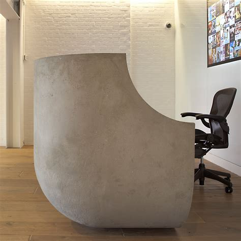 concrete reception desk concrete reception desks custom made designs apres