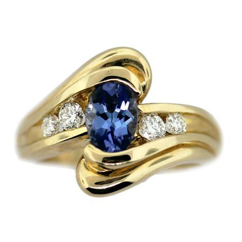 14k yellow gold tanzanite and ring raymond