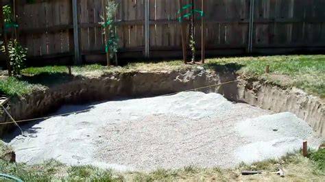 how to build a backyard patio sunken patio youtube