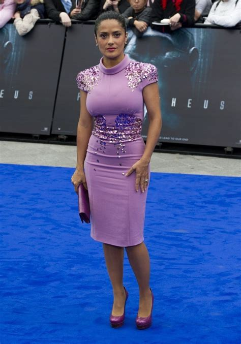 Salma Hayek When Bad Shoes Happen To Dresses by Salma Hayek Beaded Dress Salma Hayek Clothes Looks
